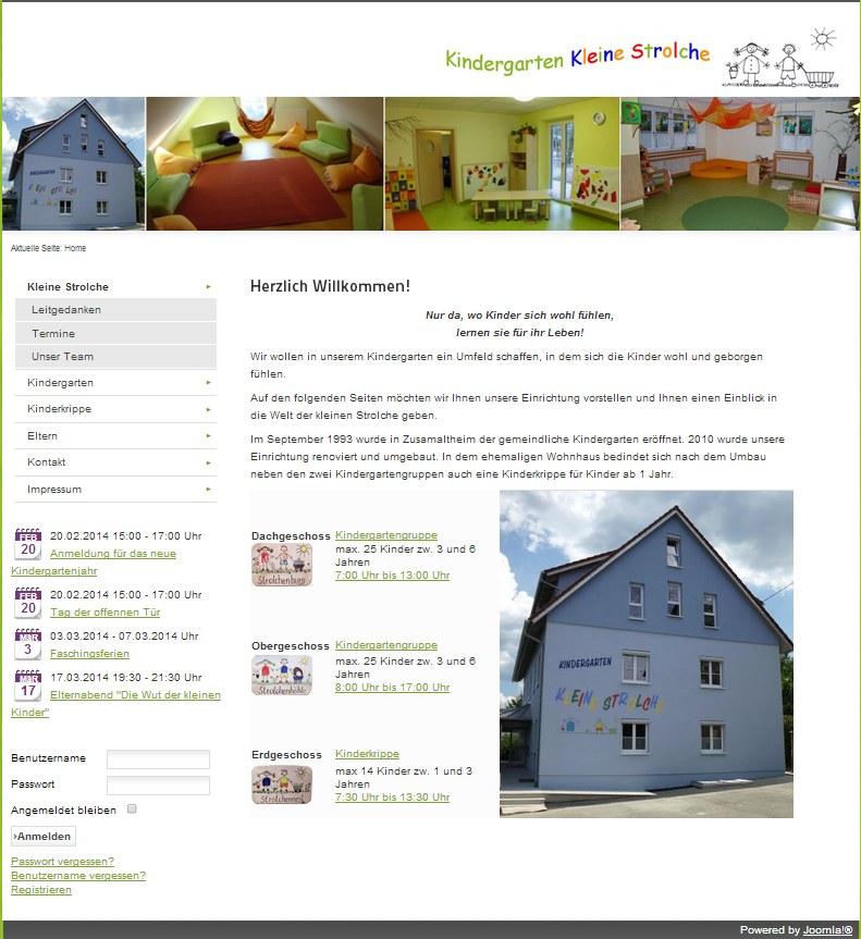 Die neue Homepage des Kindergartens